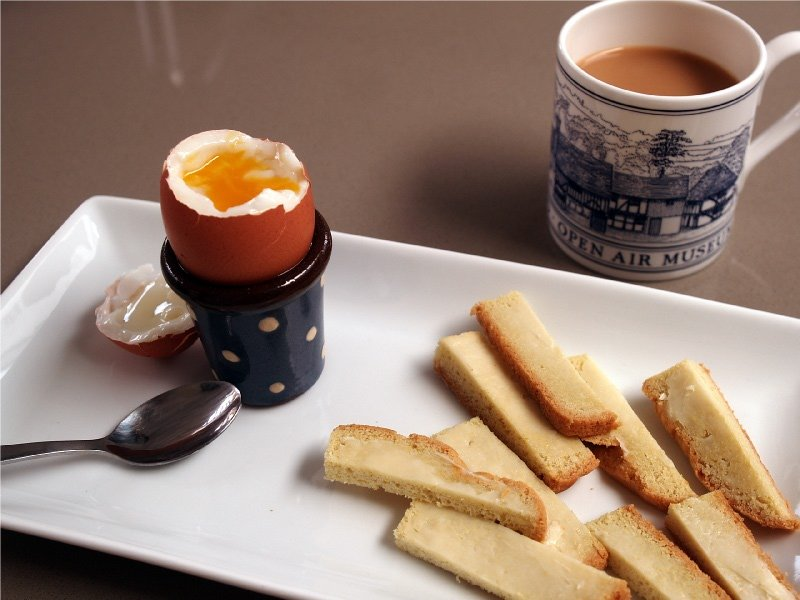 boiled egg and keto-bread soldiers