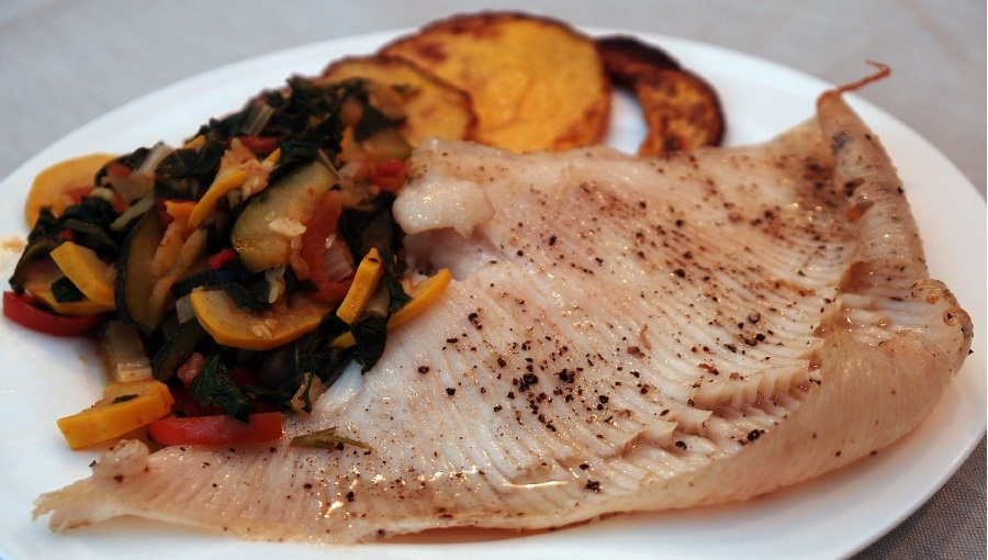 Ray_Wing_with_sauteed_summer_vegetables