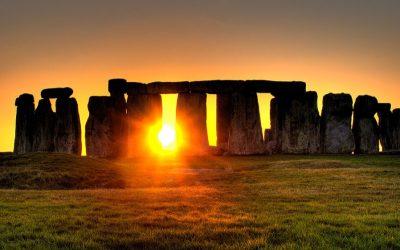 Stonehenge with sunrise