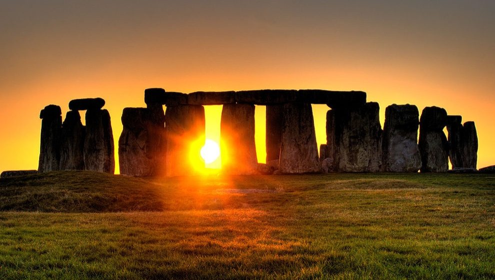 Stonehenge with sunrise