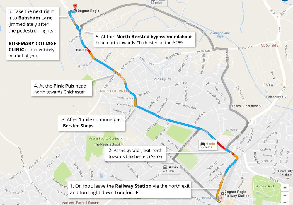 Bognor-to-Chichester-Route